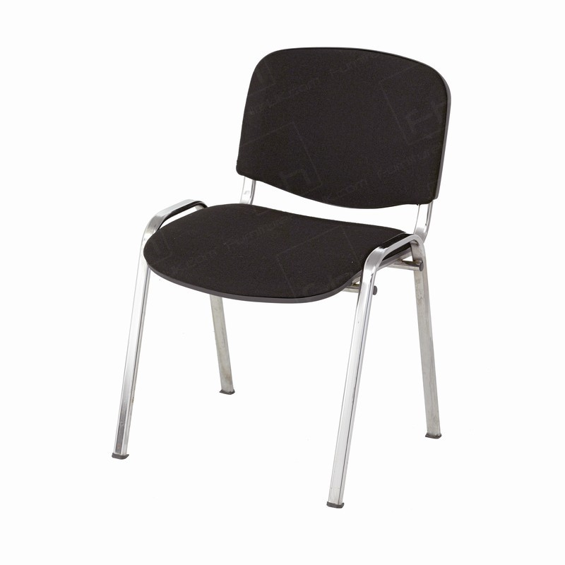 Tobago Stacking Chair Brown Chrome: Black Conference Chair Hire - Chair Hire