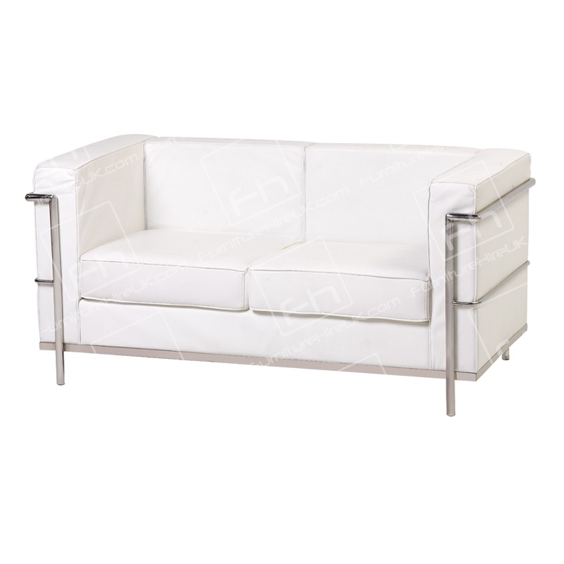 Two Seater Corbusier Hire White Sofa Hire London Amp Uk